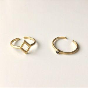 MADEWELL Bezel Midi Rings